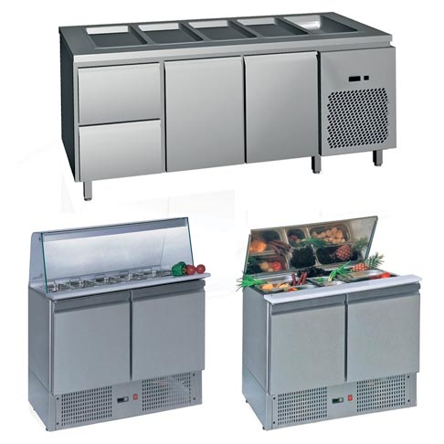 saladette salad serving counters and cabinets
